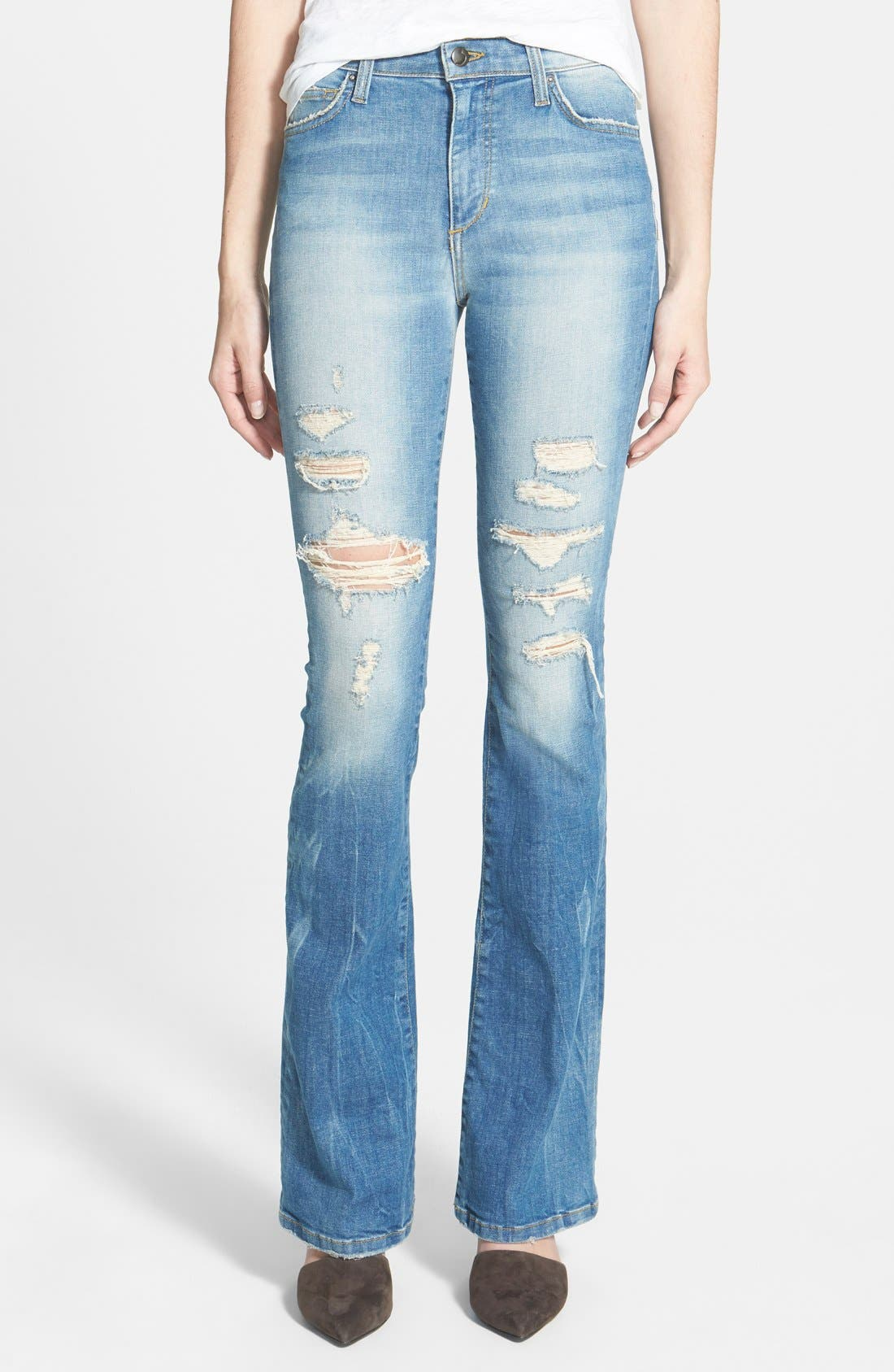 'Collector's Edition' Destructed Flare Jeans, Main, color, 400