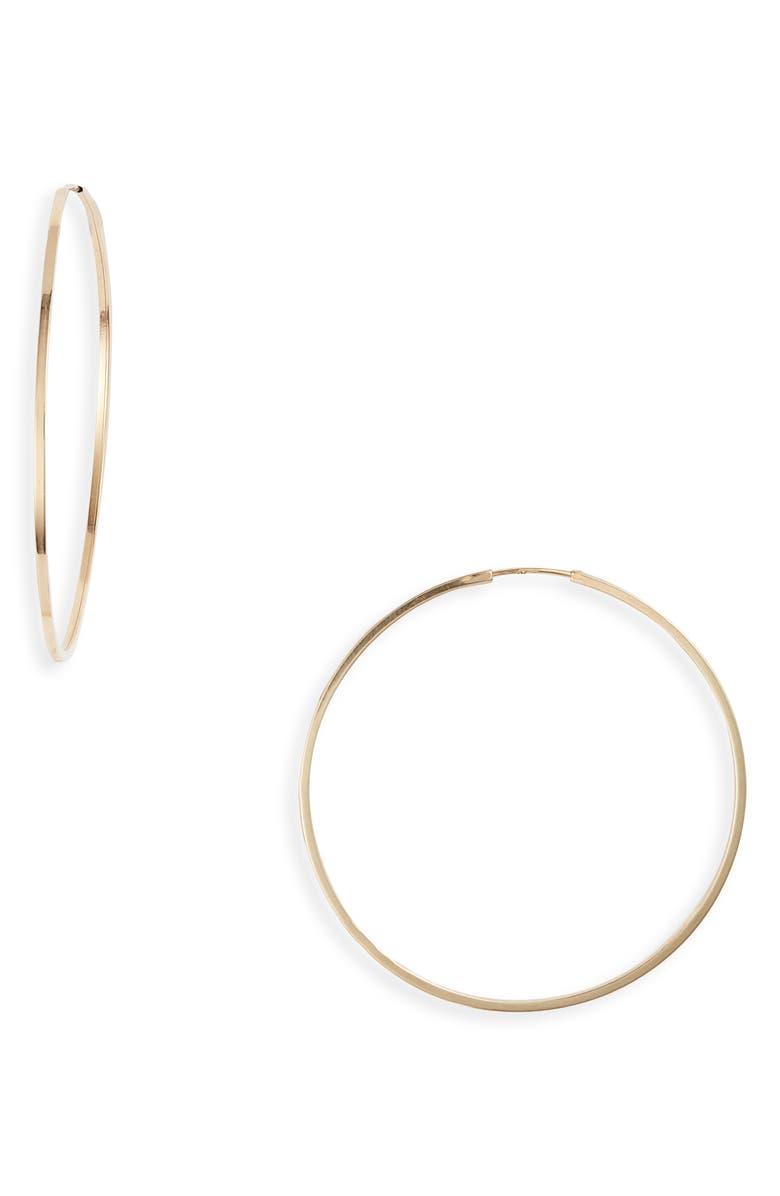 BONY LEVY Essentials 14K Gold Thin Hoop Earrings, Main, color, YELLOW GOLD