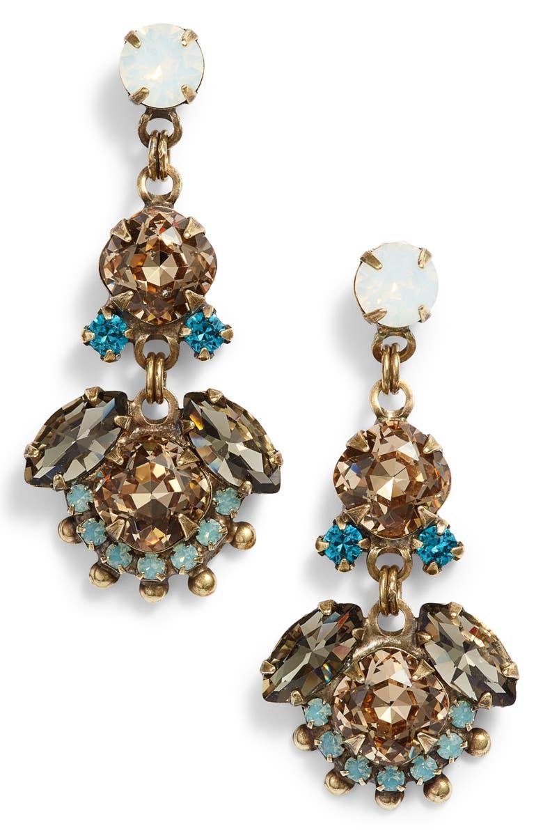 SORRELLI California Poppy Crystal Drop Earrings, Main, color, 710