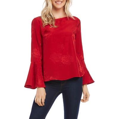 Karen Kane Bell Sleeve Blouse, Red