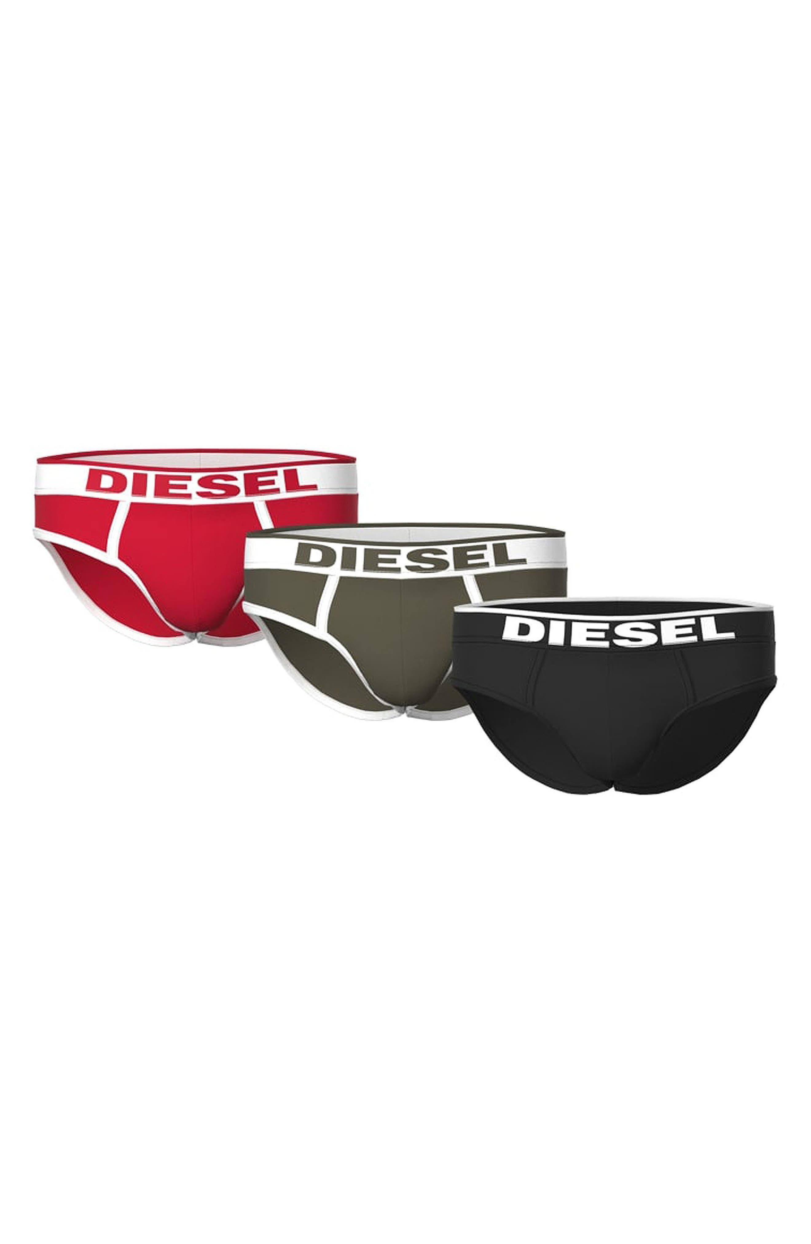 Men's Diesel Umbr-Andre Assorted 3-Pack Briefs