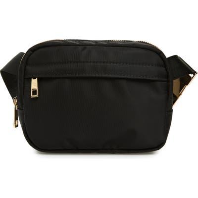 Sole Society Cyne Nylon Belt Bag - Black