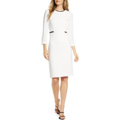 Harper Rose Body-Con Sheath Dress, Ivory