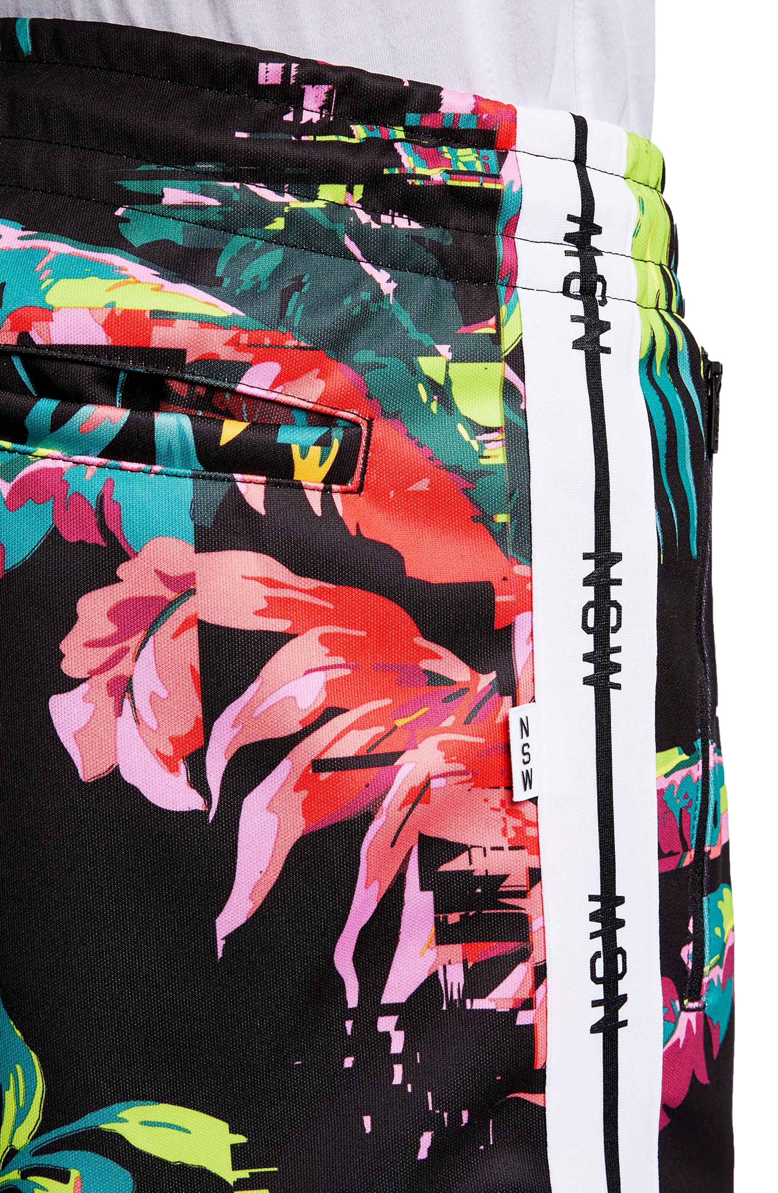 ,                             Sportswear NSW Track Pants,                             Alternate thumbnail 4, color,                             CYBER/ BLACK/ WHITE