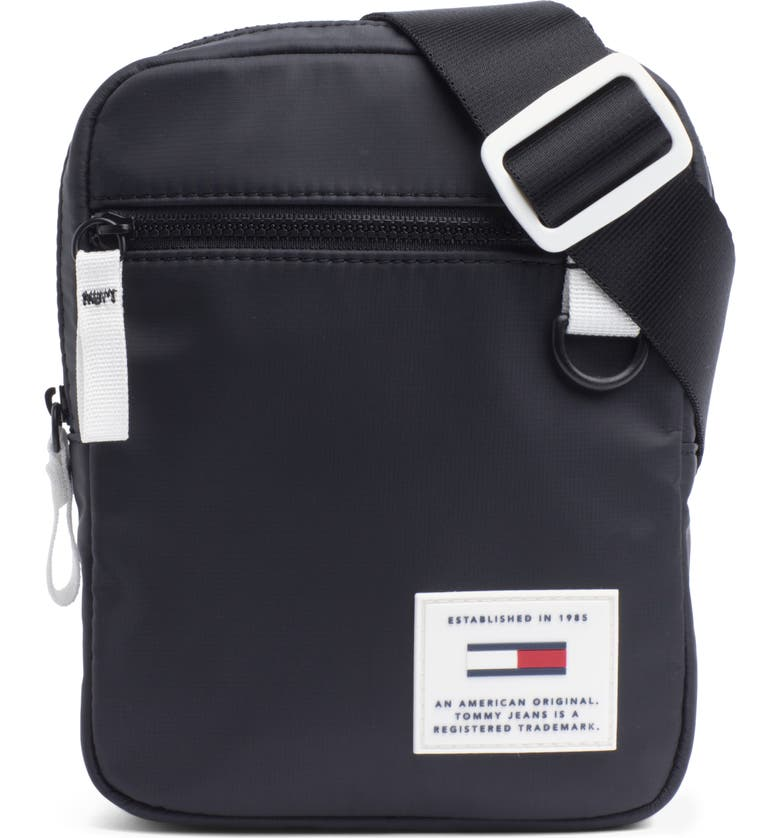 TOMMY JEANS Urban Tech Reporter Crossbody Bag, Main, color, BLACK