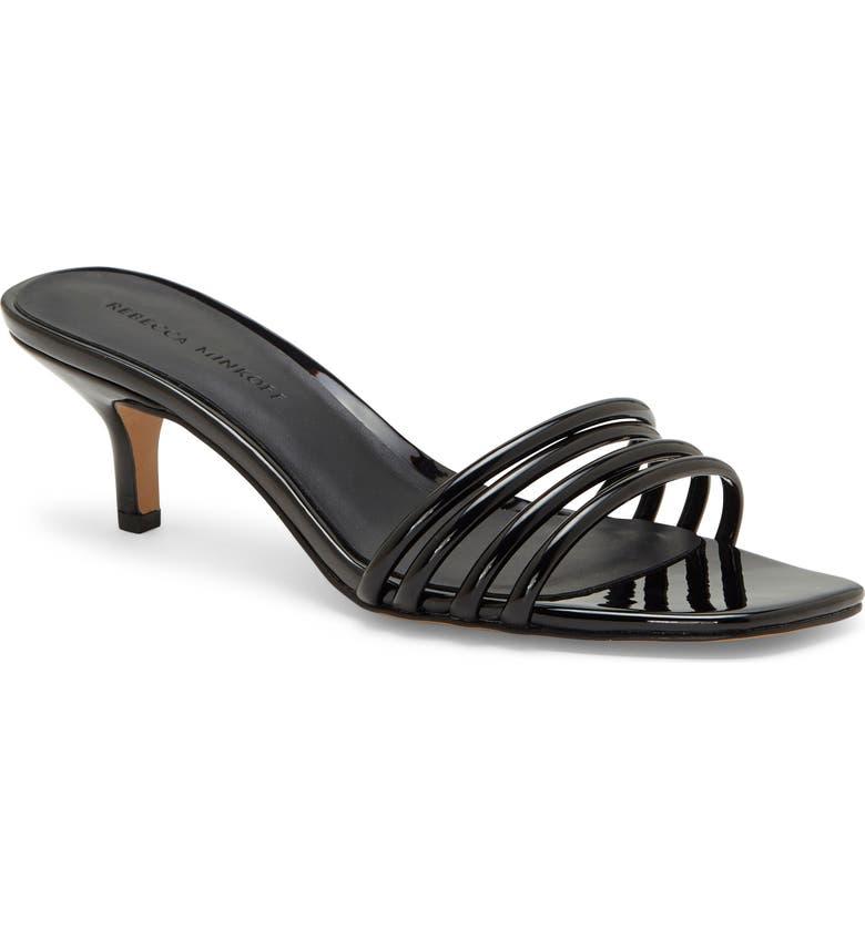 REBECCA MINKOFF Decklynn Slide Sandal, Main, color, BLACK PATENT LEATHER