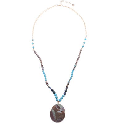 Nakamol Design Amazonite Pendant Necklace