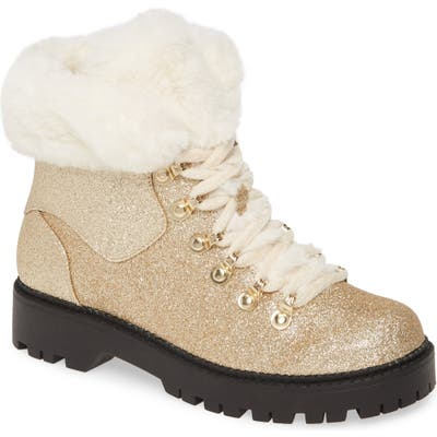 Katy Perry The Henry Faux Fur Bootie, Metallic