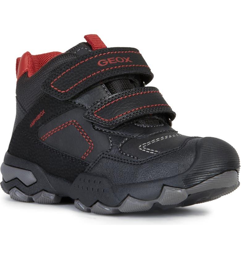 GEOX Bullerboy 2 Sneaker, Main, color, BLACK/ DARK RED