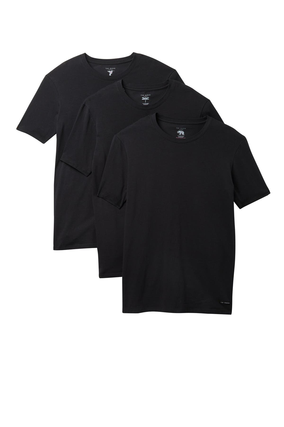 Image of Ted Baker London Cotton Blend Stretch Crew Neck T-Shirt - Pack of 3