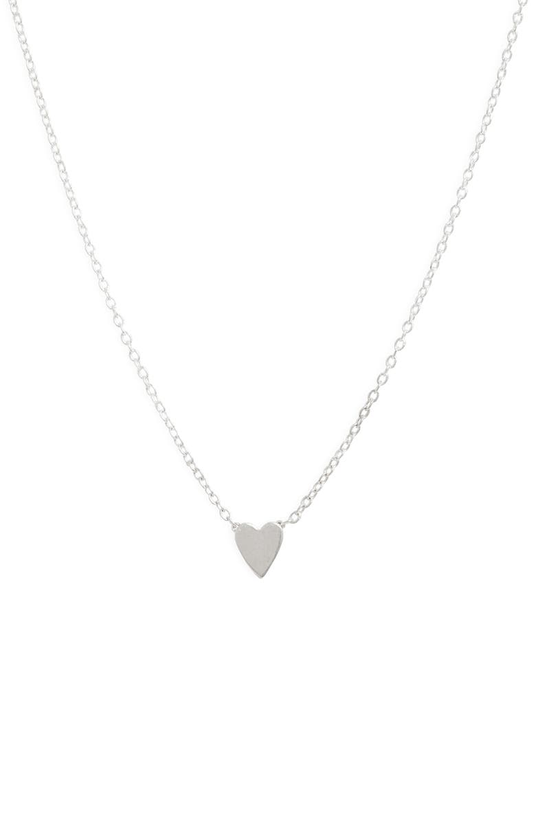 SET & STONES Ryanne Heart Necklace, Main, color, SILVER