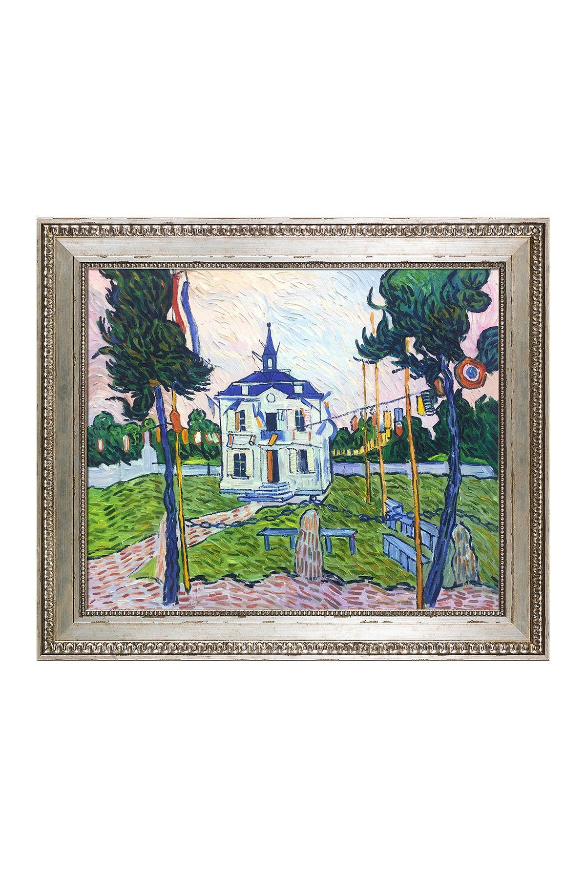 Auvers Town Hall in 14 July Framed Oil Reproduction of an Original Painting by Vincent Van Gogh at Nordstrom Rack