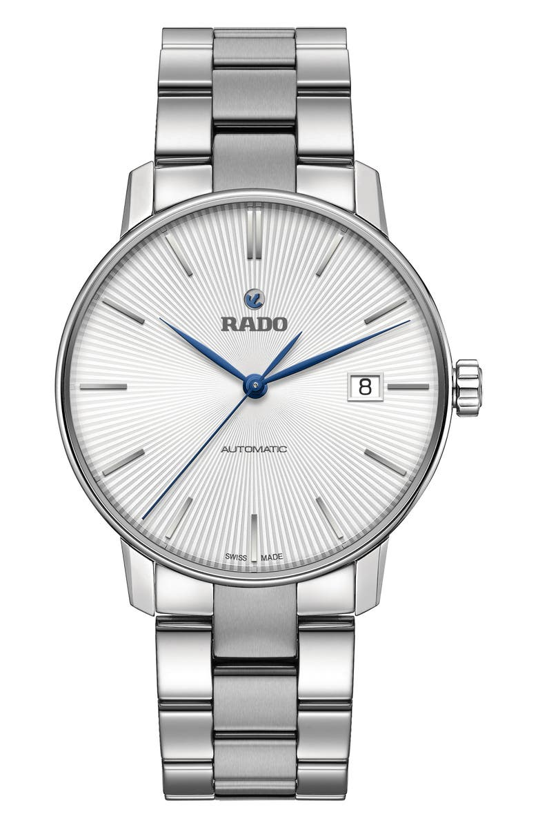 RADO Coupole Classic Automatic Bracelet Watch, 37.7mm, Main, color, SILVER