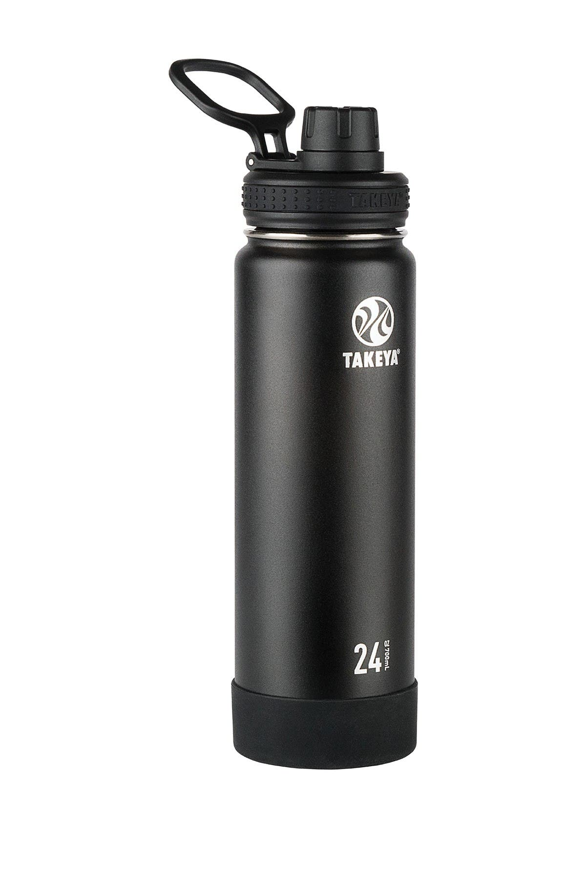 Image of Takeya Onyx Active Insulated 24 oz. Stainless Steel Monochromatic Bottle