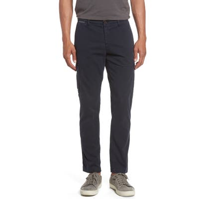 Eleventy Stretch Cotton Cargo Pants, Blue