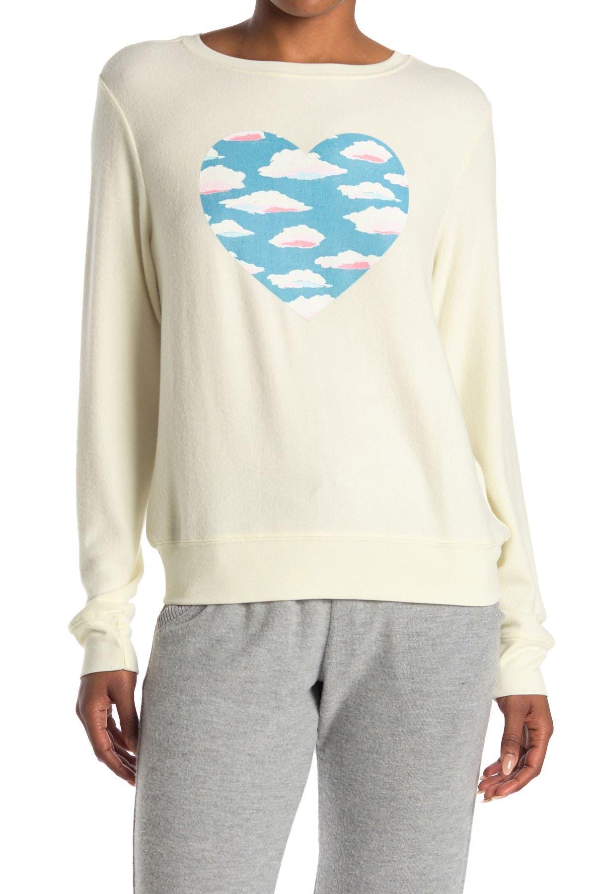 M /& L Tailles Wildfox Femme Pull-over Brain Freeze graphique blanc Sweatshirts