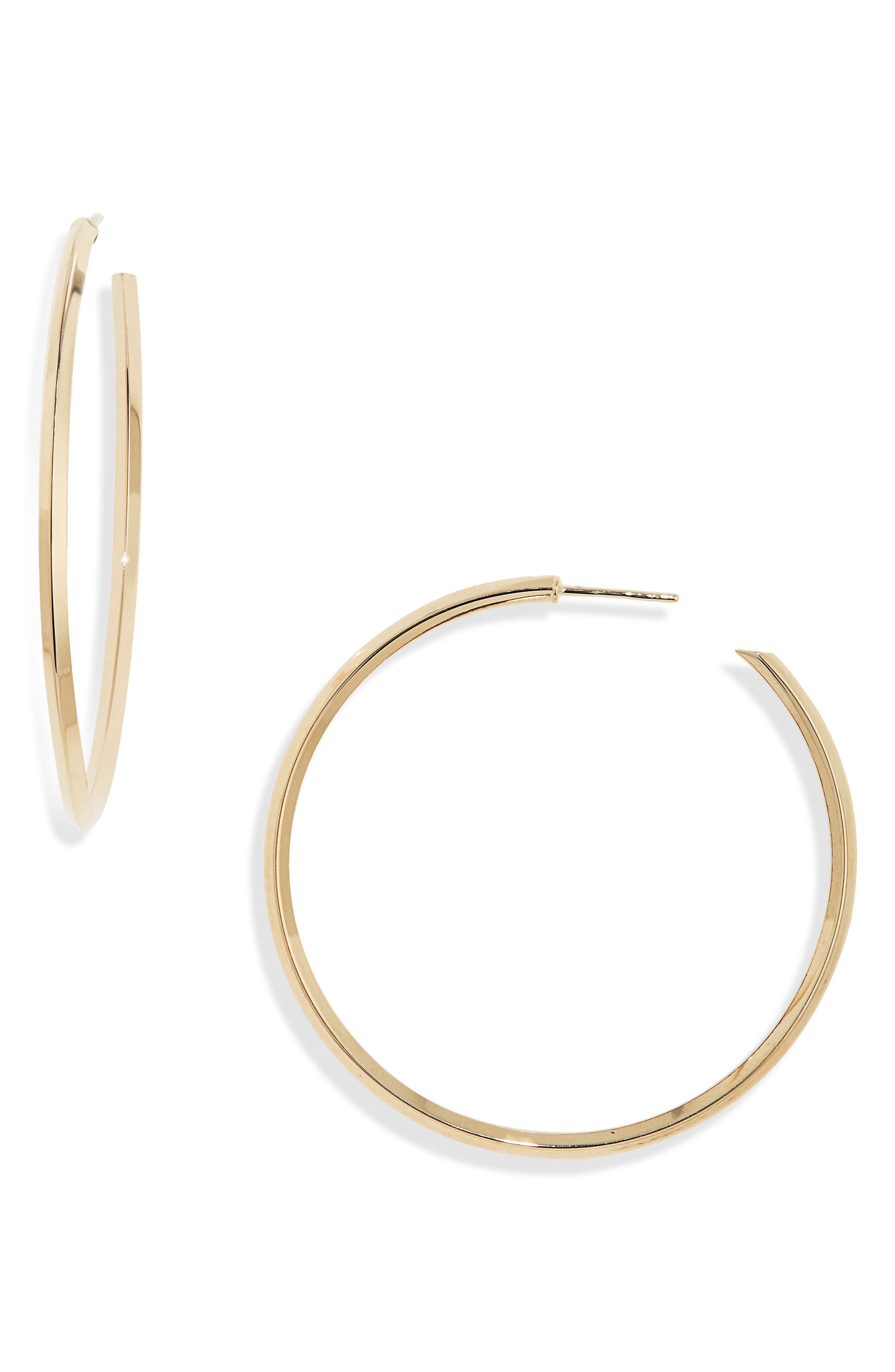Pointed Royale Hoop Earrings