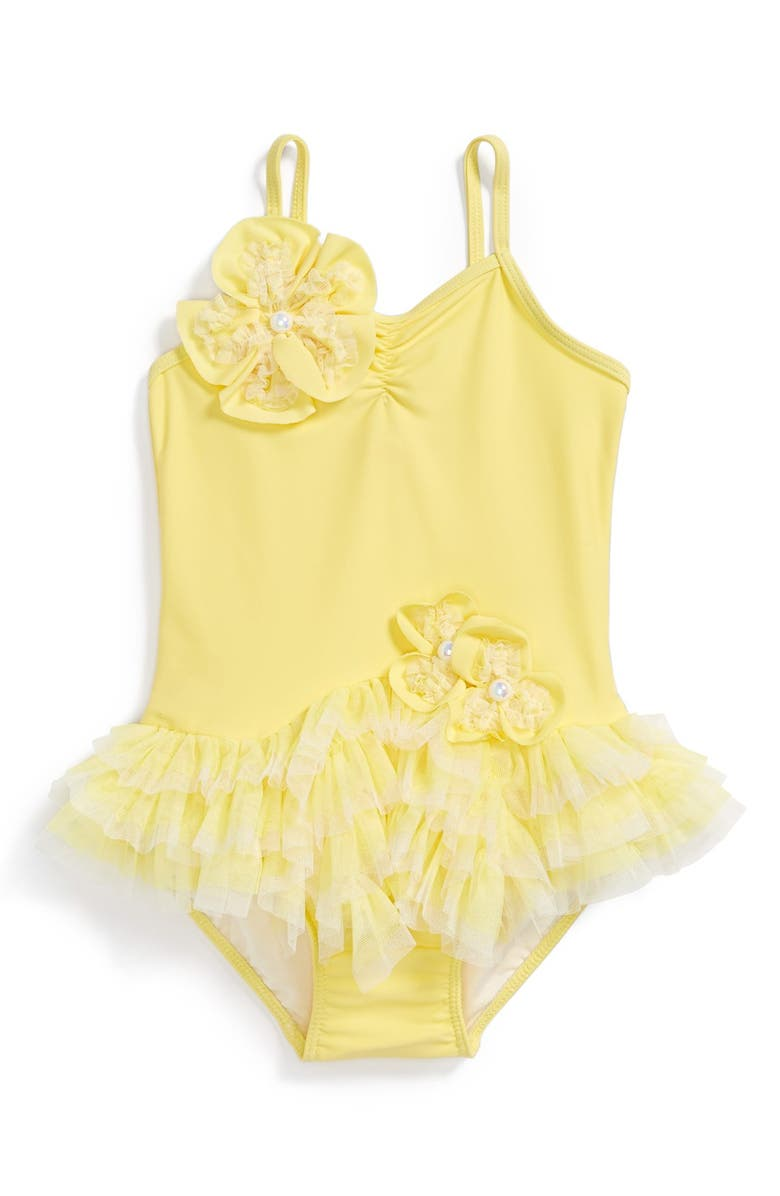 c69b78864f738 Isobella & Chloe 'Lemon Drop' One-Piece Swimsuit (Toddler Girls ...