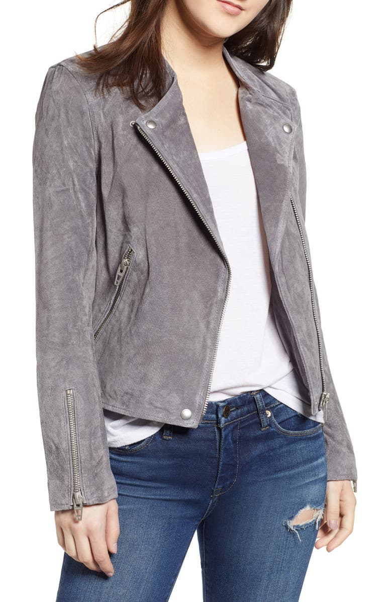 BLANKNYC No Limit Suede Moto Jacket, Main, color, 020