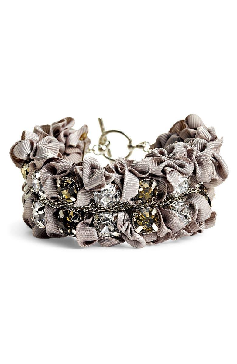 TARNISH Ribbon & Stone Bracelet, Main, color, 040