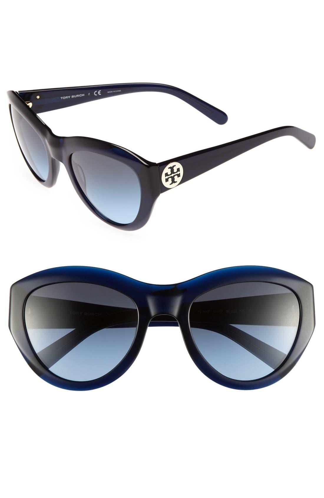 ,                             55mm Retro Sunglasses,                             Main thumbnail 4, color,                             400