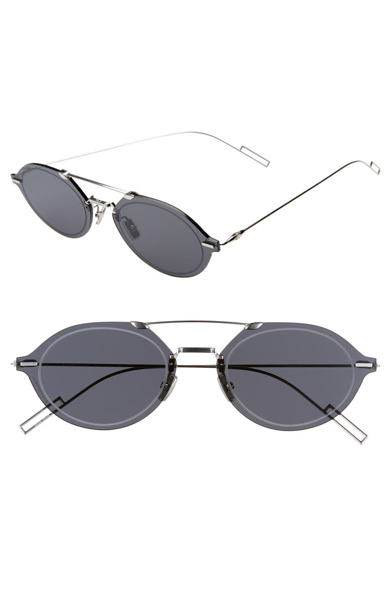DIOR Chroma3 58mm Sunglasses, Main, color, PALLADIUM / GRAY AR