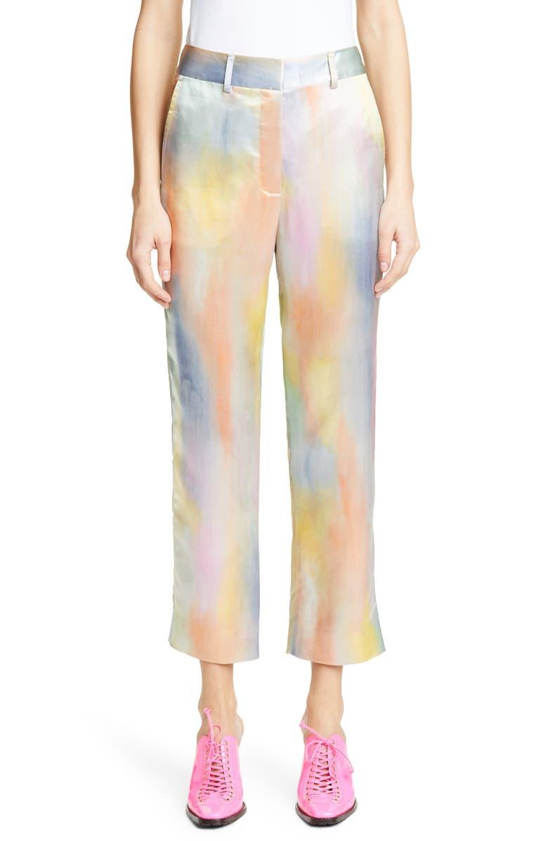 SIES MARJAN Tie Dye Satin Pants, Main, color, MULTI PRINT