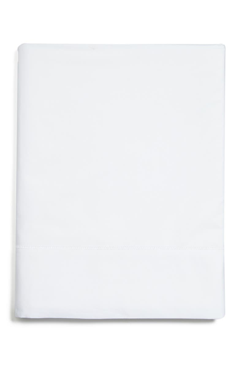 SFERRA Analisa 200 Thread Count Flat Sheet, Main, color, WHITE
