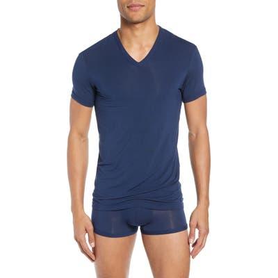Calvin Klein Ultrasoft Stretch Modal V-Neck T-Shirt, Blue