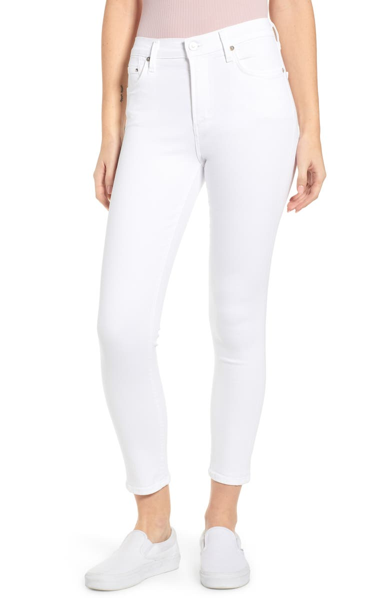 CITIZENS OF HUMANITY Rocket High Waist Ankle Skinny Jeans, Main, color, WHITE SCULPT