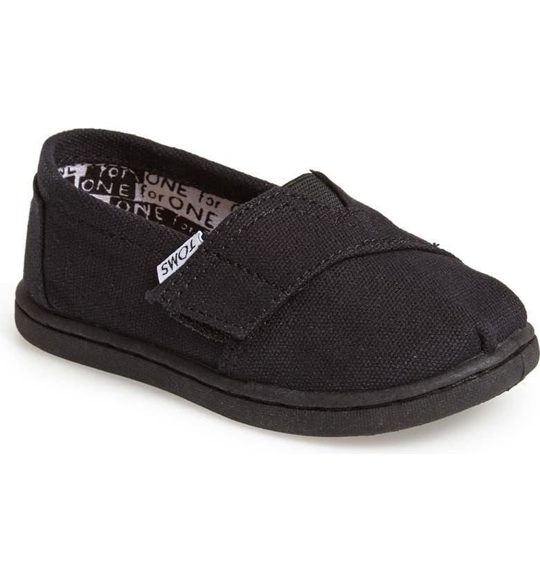 TOMS 'Classic - Tiny' Slip-On, Main, color, 001
