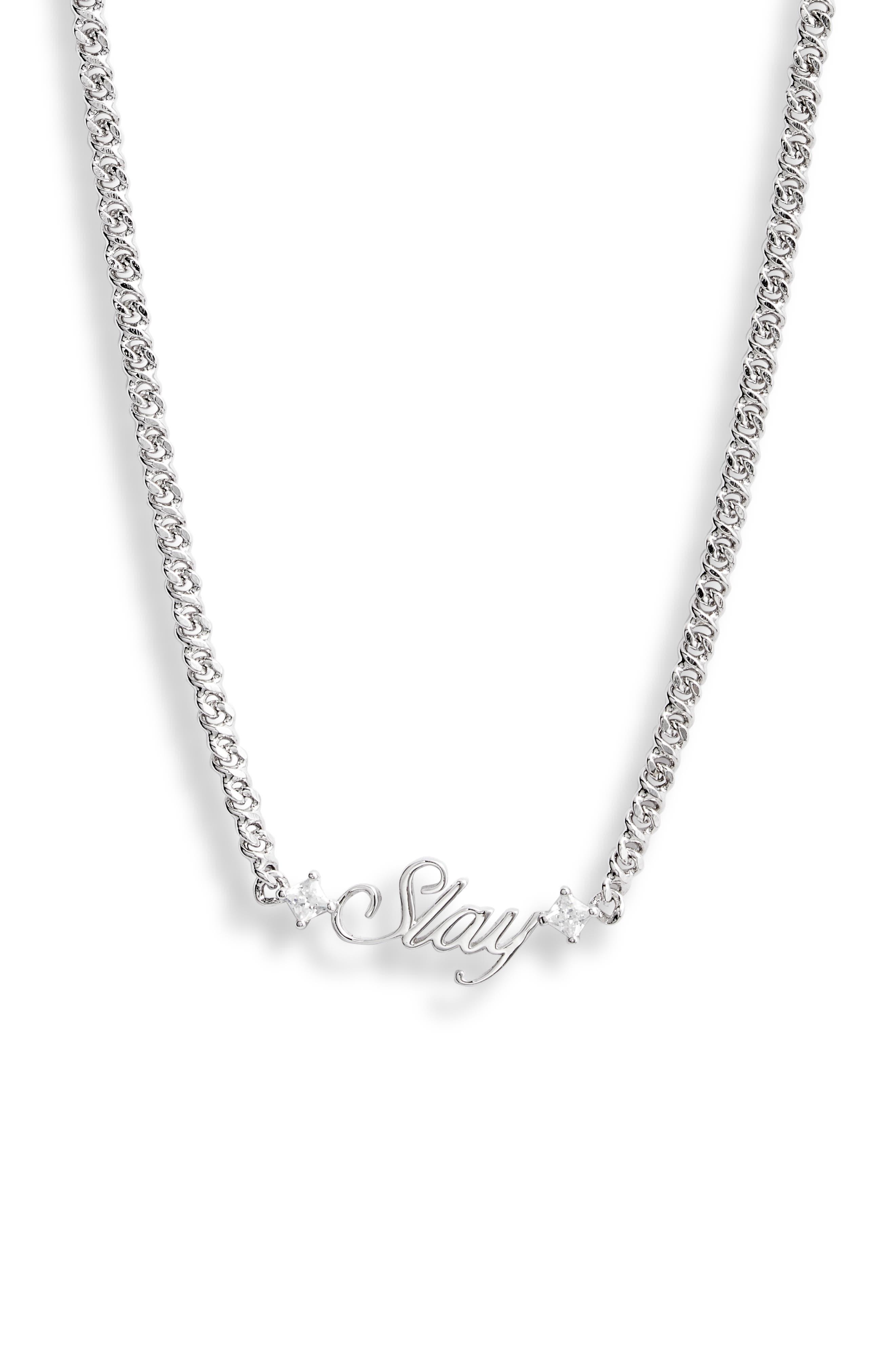 Slaybelles Slay Cubic Zirconia Necklace