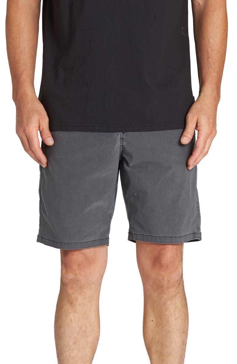 BILLABONG New Order X Overdye Hybrid Shorts, Main, color, BLACK