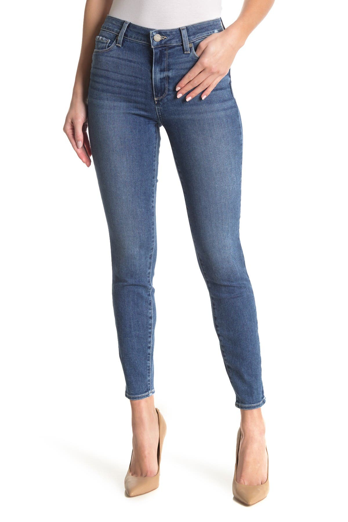 Image of PAIGE Hoxton Ankle Skinny Jeans