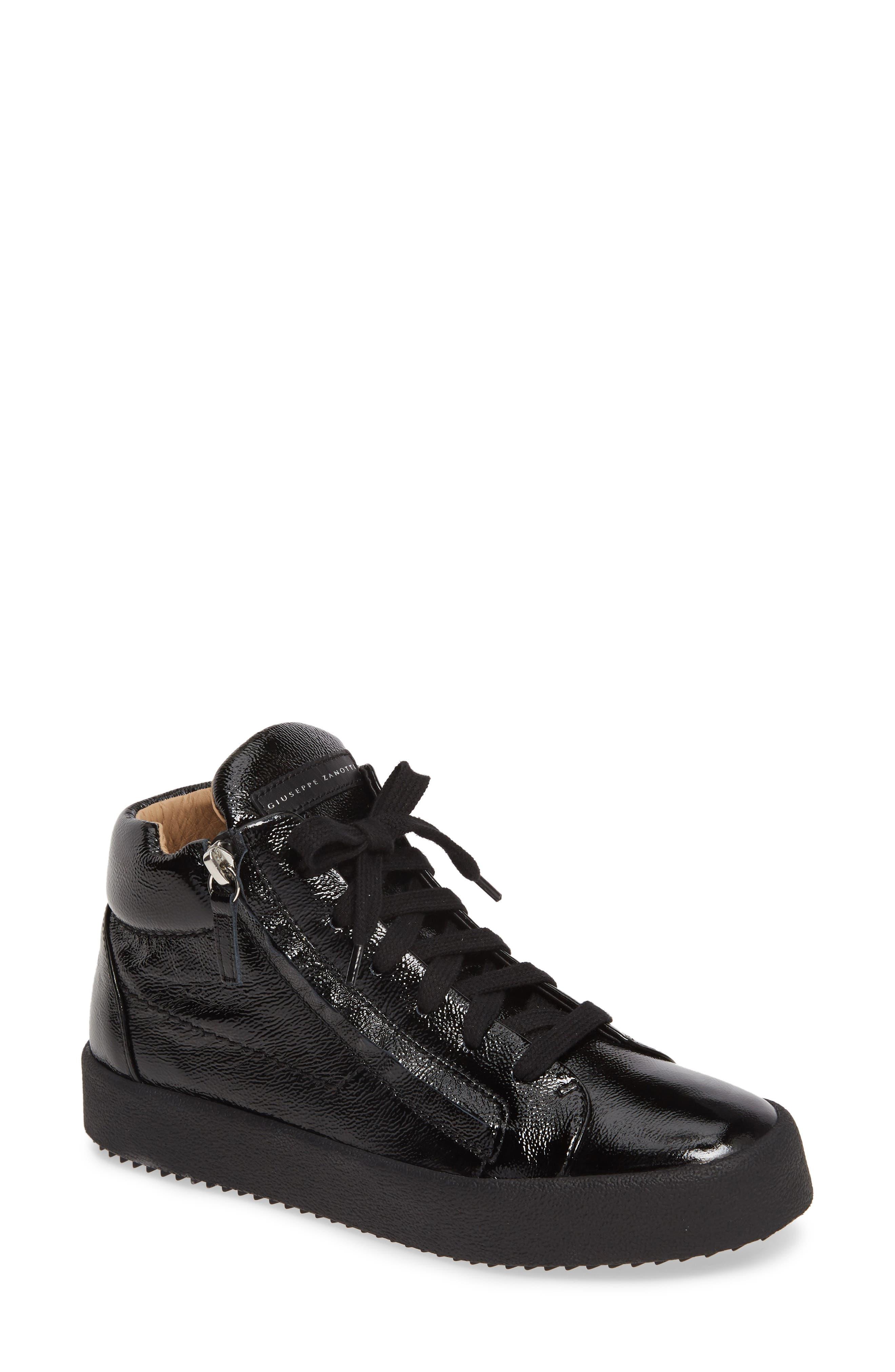 Giuseppe Zanotti May London Mid Top Sneaker, Black