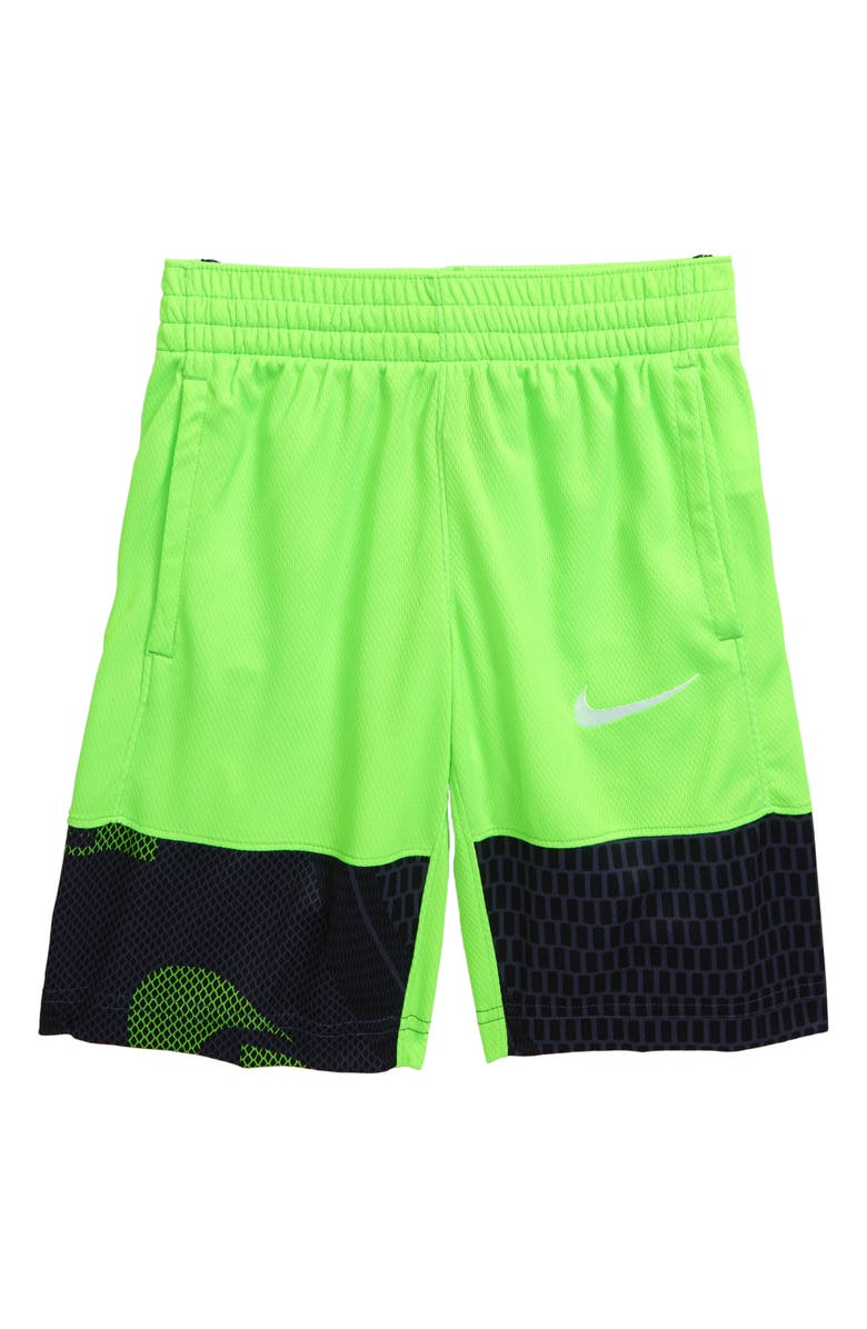 NIKE Dri-FIT Avalanche Athletic Shorts, Main, color, ELECTRIC GREEN/ WHITE