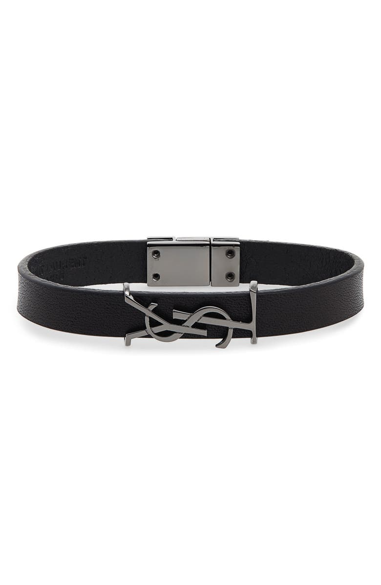 Saint Lau Ysl Leather Bracelet