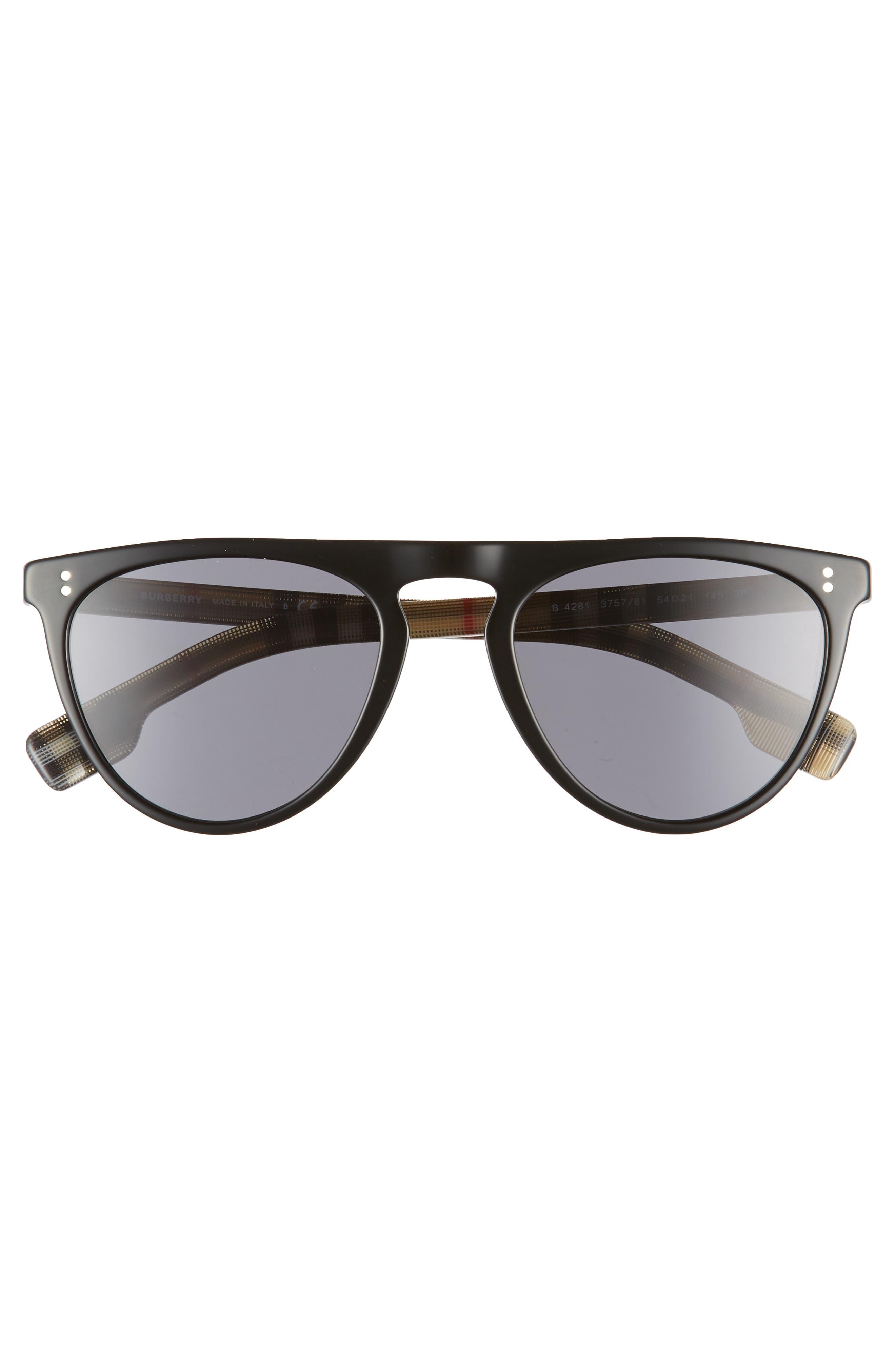 ,                             54mm Polarized Sunglasses,                             Alternate thumbnail 3, color,                             BLACK PATTERN SOLID