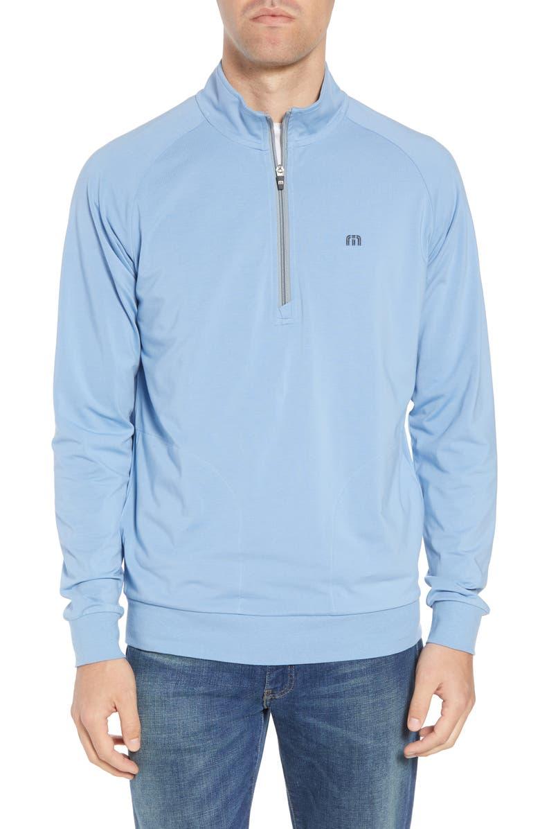 TRAVISMATHEW Strangelove Quarter Zip Pullover, Main, color, ALLURE