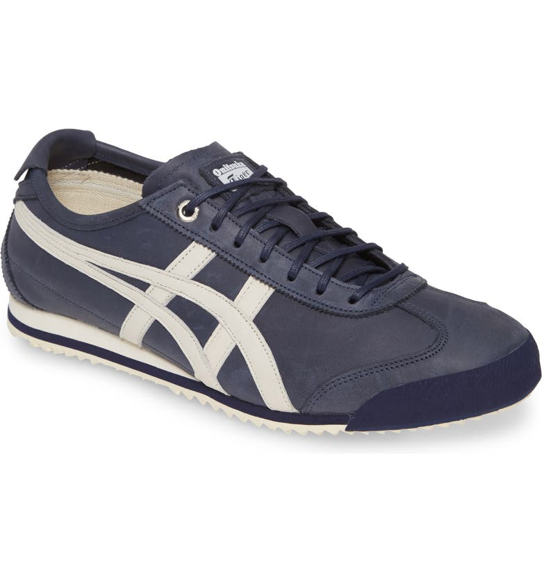 ONITSUKA TIGER<SUP>™</SUP> ASICS<sup>®</sup> Onitsuka Tiger Mexico 66 Low Top Sneaker, Main, color, INDIGO BLUE/ CREAM LEATHER