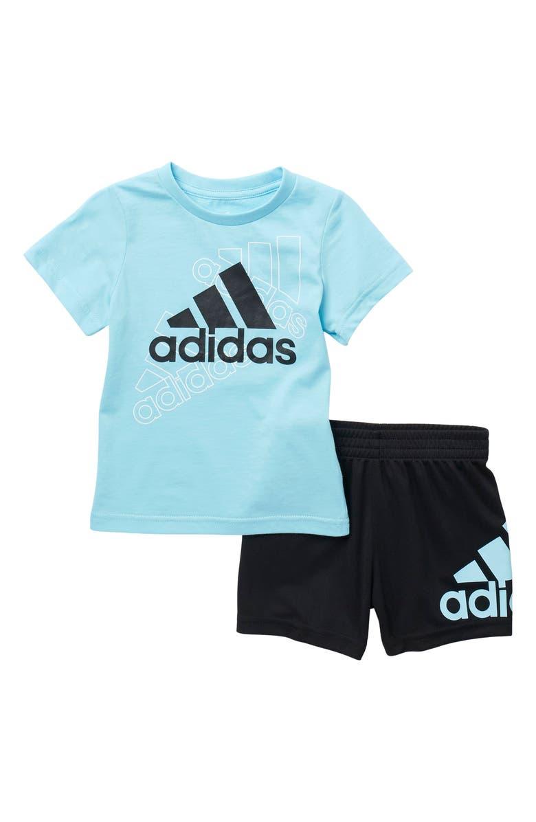 ADIDAS: Cotton T-Shirt & Shorts Set For Baby Boys! .49-.23 (REG: .00) at Nordstrom Rack!