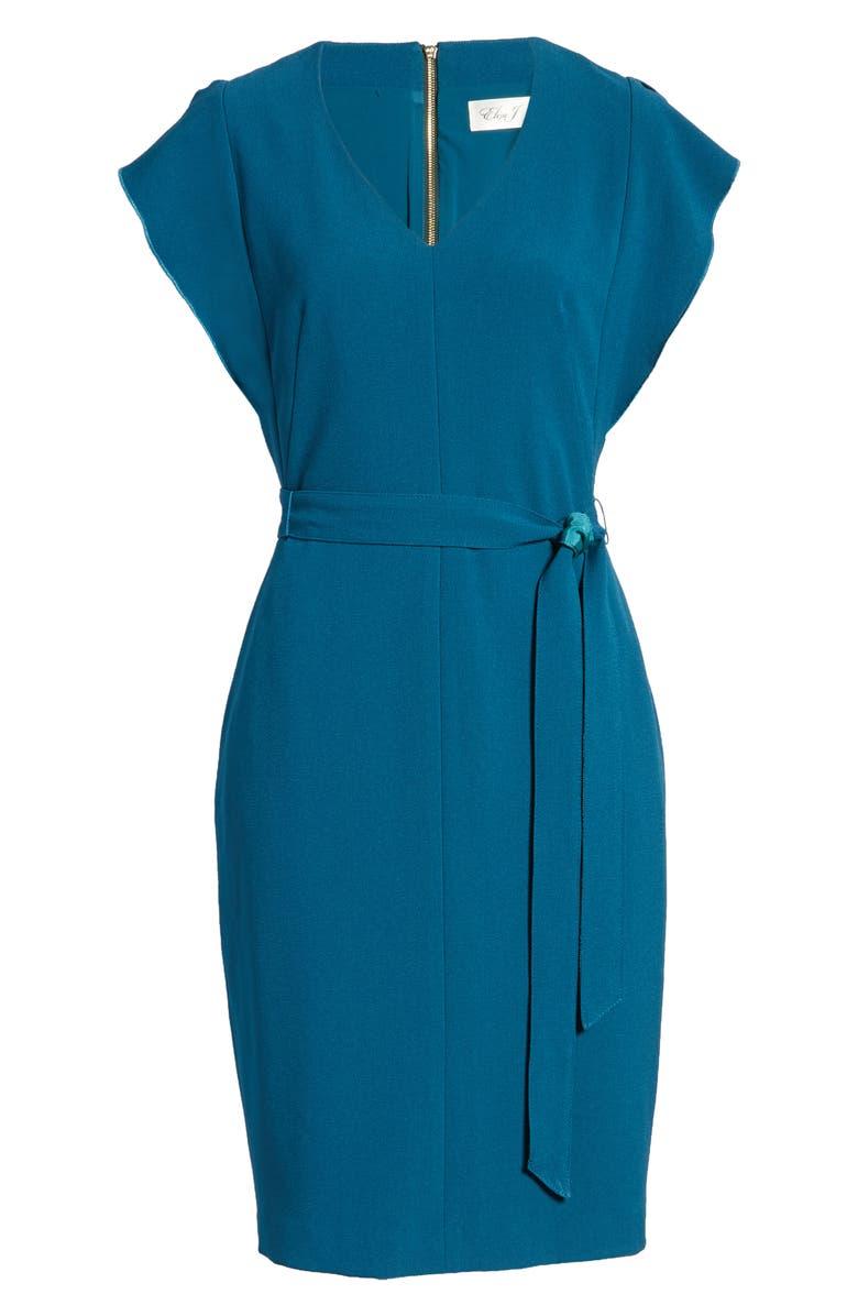 ELIZA J Ruffle Sleeve Sheath Dress, Main, color, 300