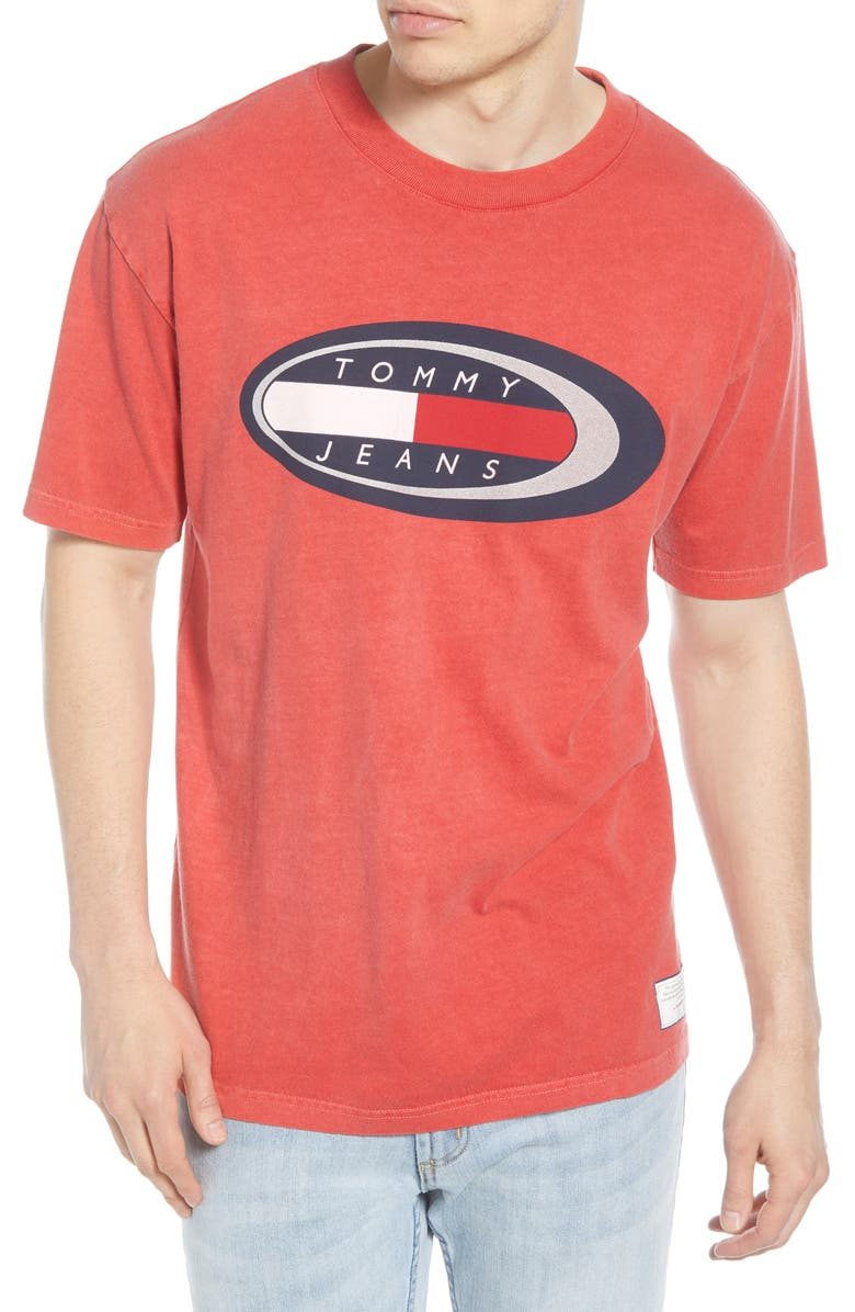 TOMMY JEANS TJM Summer Oval Logo T Shirt