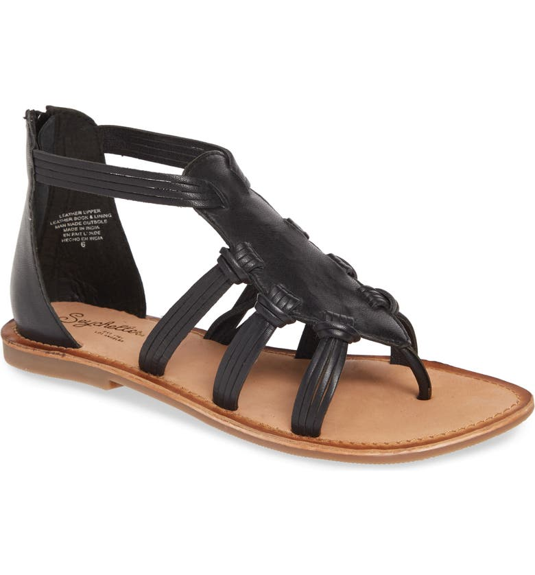 SEYCHELLES Must Have Strappy Sandal, Main, color, BLACK LEATHER