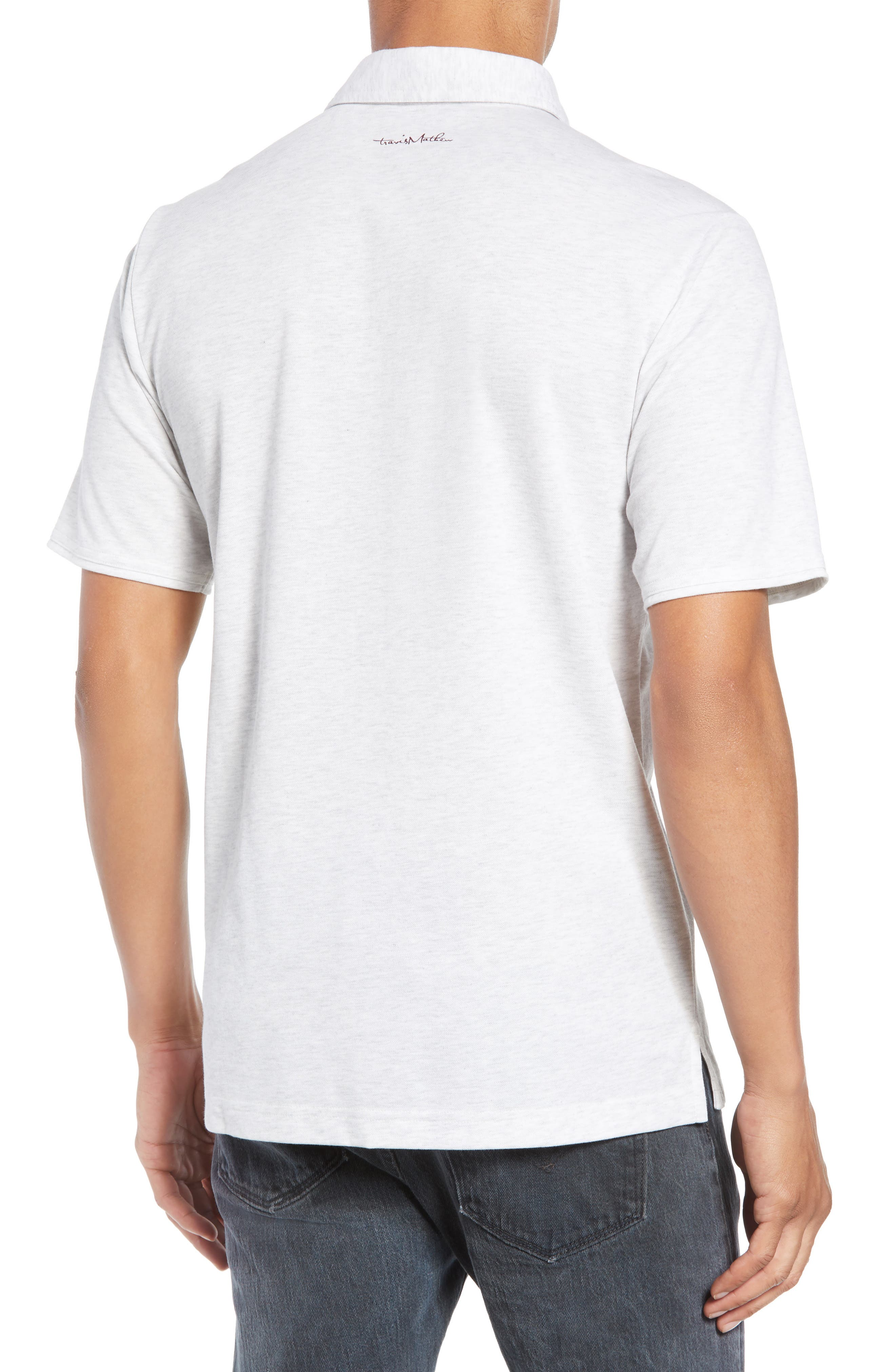 ,                             Classy Regular Fit Jersey Polo,                             Alternate thumbnail 2, color,                             HEATHER WHITE