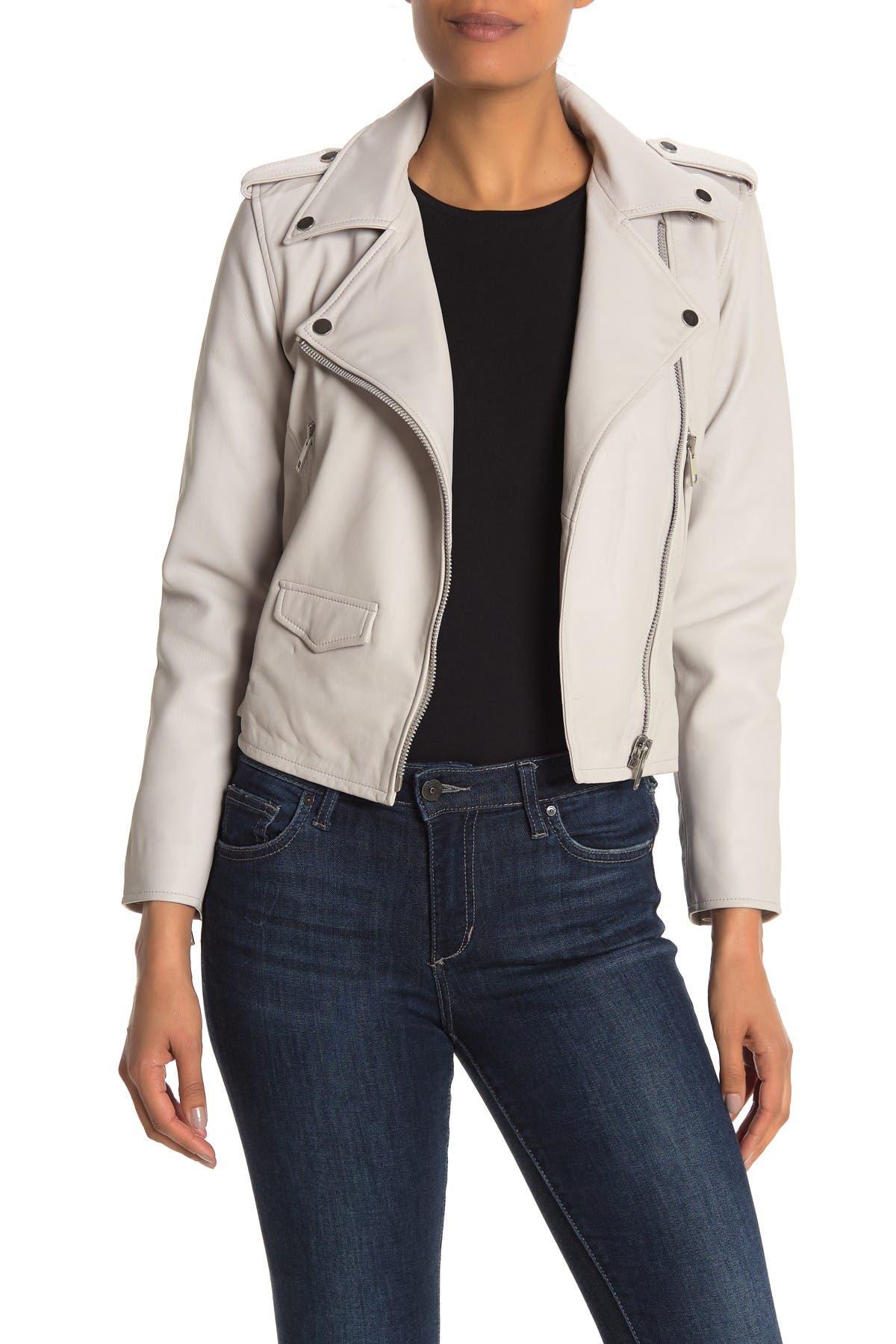 Image of Walter Baker Liz Leather Crop Moto Jacket