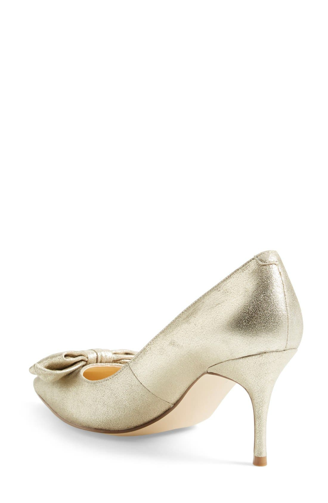 ,                             'Benny' Pointy Toe Bow Pump,                             Alternate thumbnail 18, color,                             711