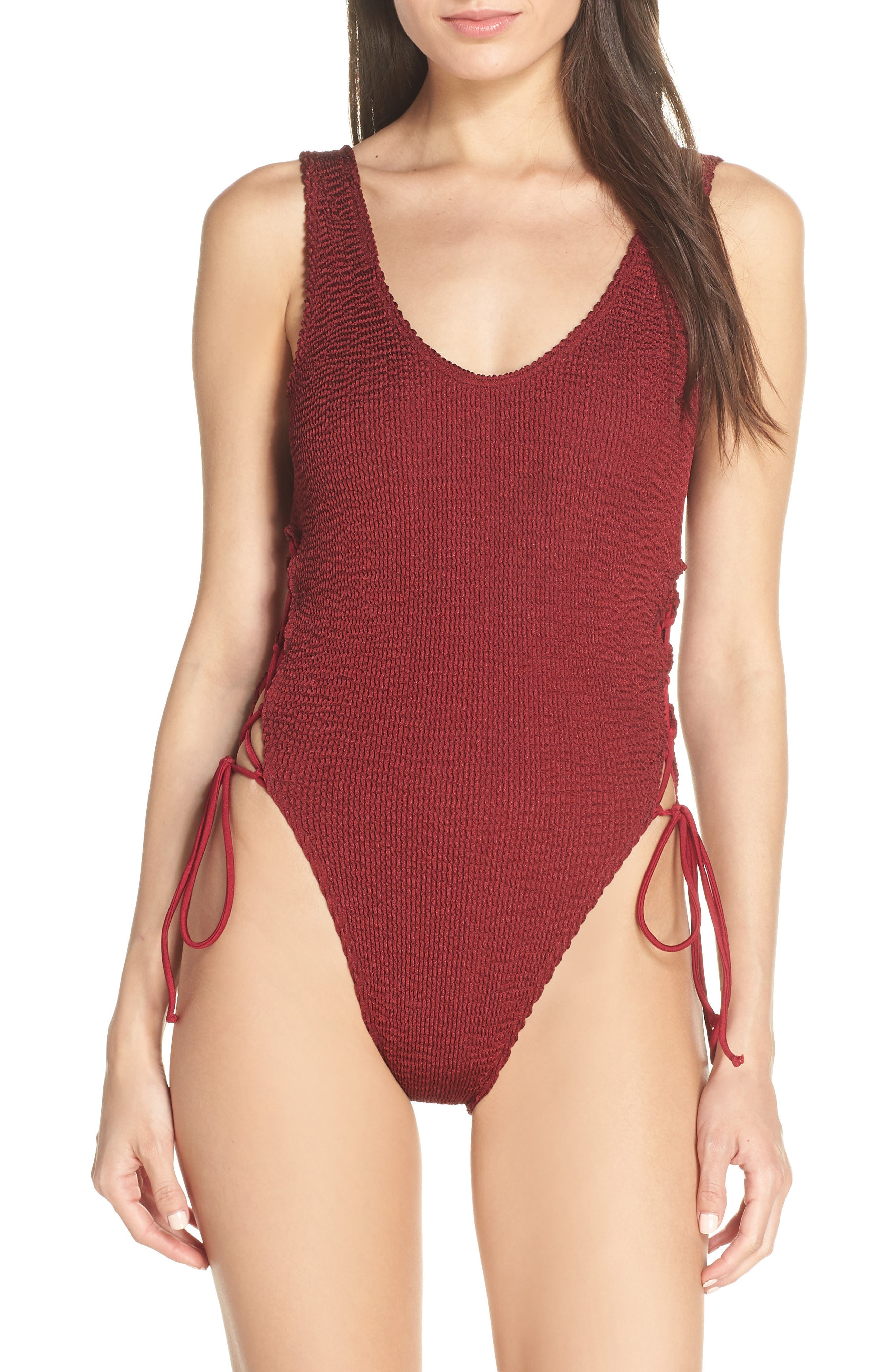 Bound By Bond-Eye The Margot One-Piece Swimsuit, Size One Size - Red