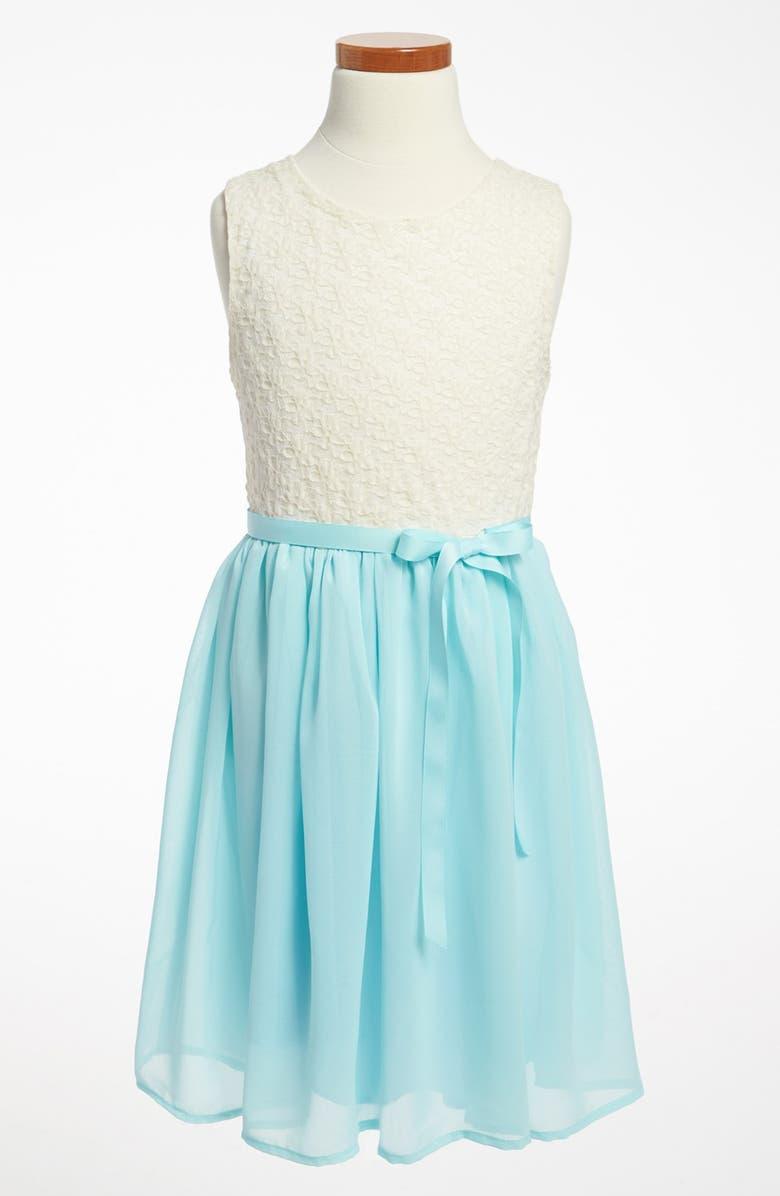 ZUNIE Lace Bodice Dress, Main, color, 454