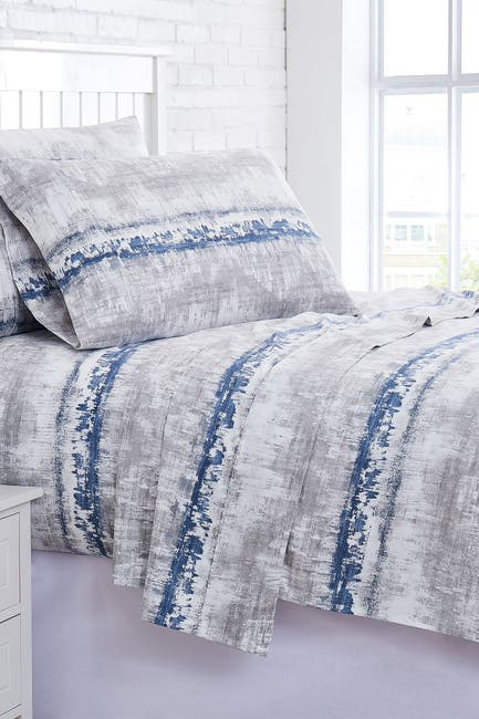 Image of SOUTHSHORE FINE LINENS Premium Collection 300 Thread-Count Extra Deep Pocket 4-Piece Sheet Set - King
